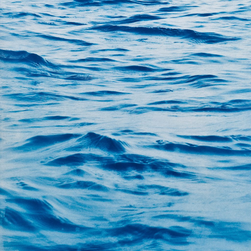 blue picture of waves