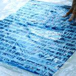 processing cyanotype print