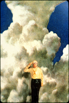 soldier in front of cloud