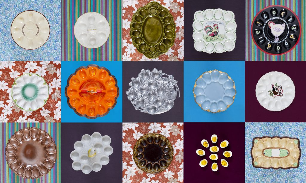 deviled egg plate collection & deviled eggs