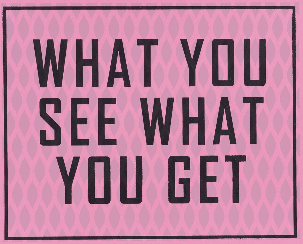20e3db079aad What You See What You Get – Alyssa C. Salomon